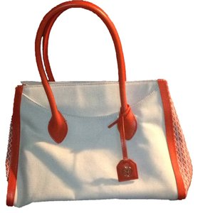 Tory Burch Satchel in Cream/Orange