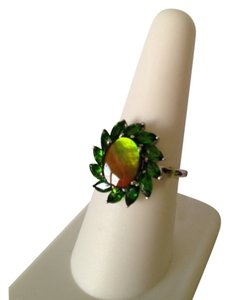 My Closet- Embellished by Leecia Embellished by Leecia Ammolite & Chrome Diopside Ring, Size 8