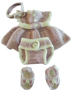 Jessica McClintock Crochet baby dress set