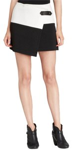 Alice + Olivia New Mini Skirt Black & Off White