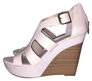 INC International Concepts White Wedges