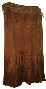 Dress Barn Maxi Skirt Brown