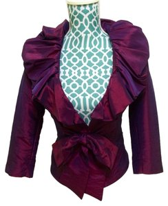 Other Taffeta Plum Shirt Night Out Chic Elegant Pretty Feminine Sexy Top Purple