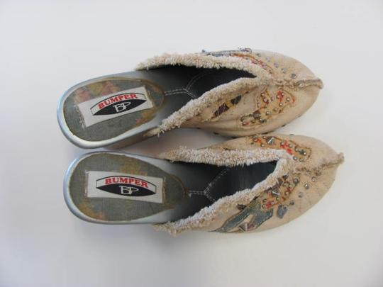 Bumper Great Condition Size 7.50 NEUTRAL, DENIM BLUE, CORAL Mules