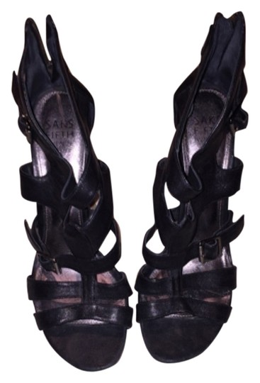 Saks Fifth Avenue Strappy Heels Sexy Summer Black Sandals