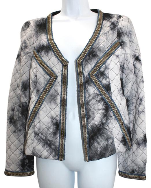 Anama Chain Trim Tie Dye Quilted Jacket