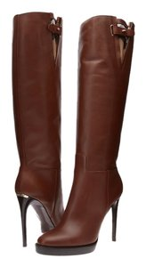 Burberry Becmead Dark Tan Leather Brown Boots