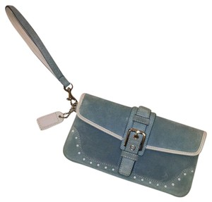 Coach Wristlet in Baby Blue