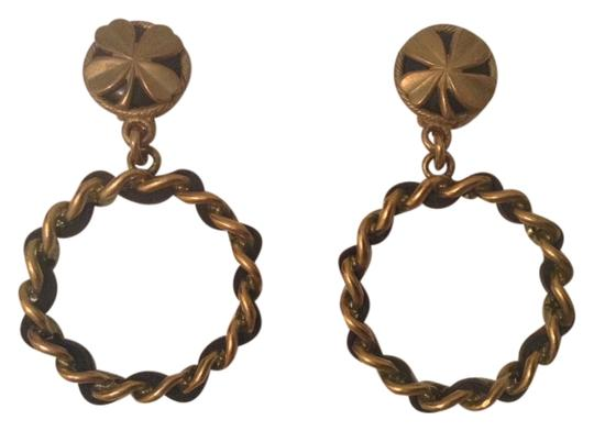 Preload https://item3.tradesy.com/images/chanel-black-gold-rare-94p-leather-plated-hoop-clover-earrings-4519207-0-0.jpg?width=440&height=440