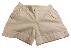 Banana Republic 97% Cotton 3% Spandex Cuffed Shorts White