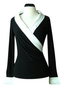 White House | Black Market Pleated Surplice Top