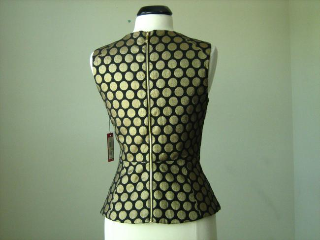 Vince Camuto Gold Peplum Top