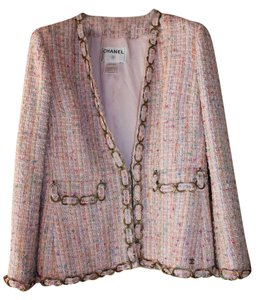 Chanel Classic Chain Pink Boucle' Jacket