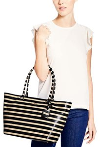 Kate Spade Stripe Tote in Offshore/pebble