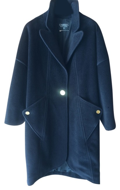 Item - Black Just Reduced Circa 1980's Cashmere Overcoat Jacket Size 10 (M)