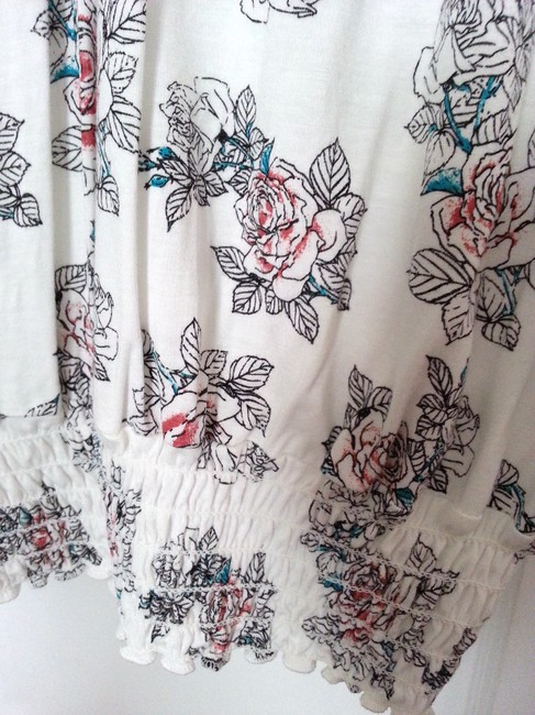 American Rag Top White/Multi-floral