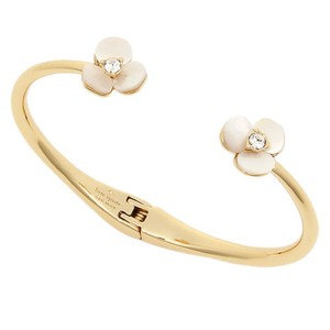 Kate Spade KATE SPADE new york Mother-of-Pearl Floral Cuff Bracelet NEW with Bag