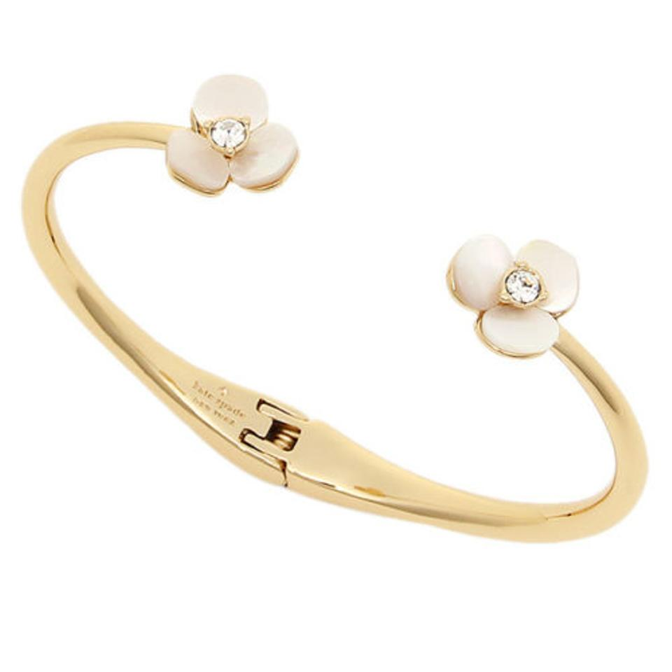 b6f696957 Kate Spade KATE SPADE new york Mother-of-Pearl Floral Cuff Bracelet NEW  with ...