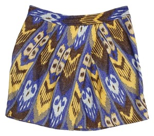 Tory Burch Tribal Print Linen Skirt