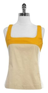 Tory Burch Colorblock Cotton Sleeveless Top