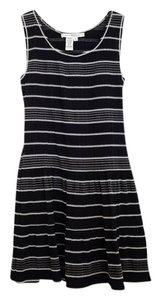 Max Studio short dress Black Striped Ruffle Sleeveless on Tradesy
