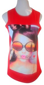 On Fire New York New York Women's Top Red