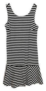 Old Navy short dress Black Sleeveless Ruffle Striped on Tradesy