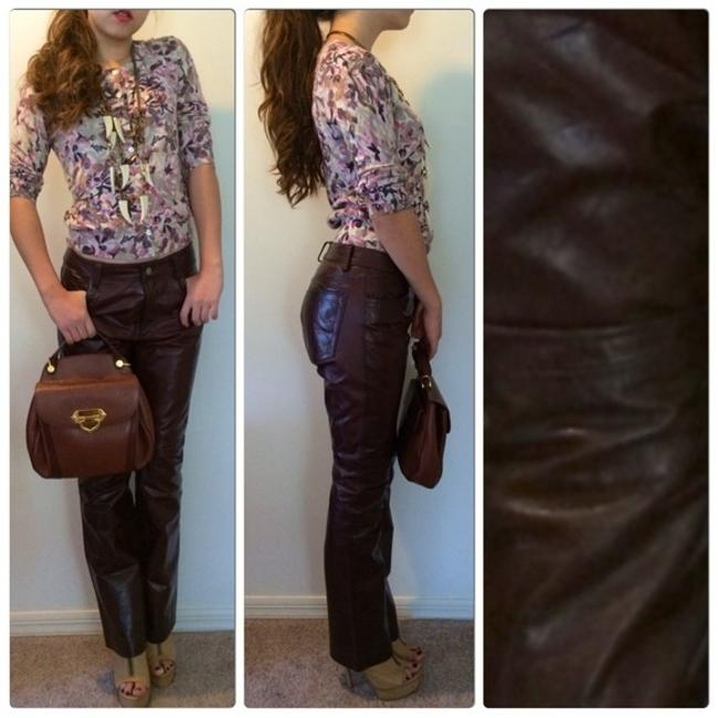 Gap 4 27 26 Size 4 Gap. Leather Leather Fall Fall Pants Fall Leather Boot Cut Jeans-Coated