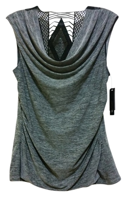 A. Byer Lace Top Gray
