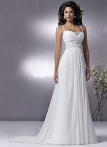 Grecian Chiffon Destination Wedding Gown W Remova Dress