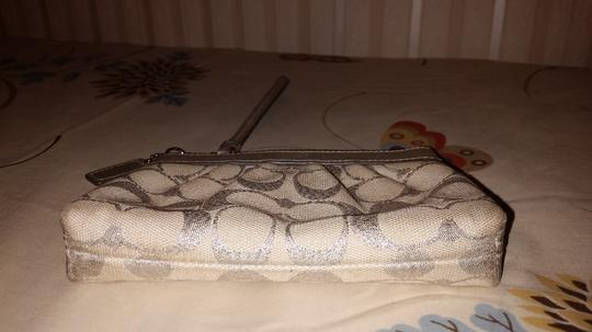 Coach Wristlet in Silver and Ivory