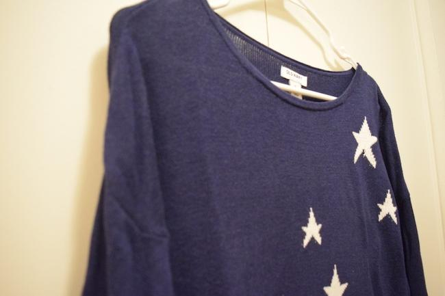 Old Navy Labor Day Memorial Day Weekend 4th Of July Independence Day Red White And Blue America Star Spangled Star Star Pattern Sweater