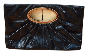 Express Blue Shiny Navy Clutch