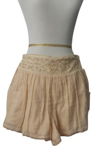 Free People Mini/Short Shorts Beige