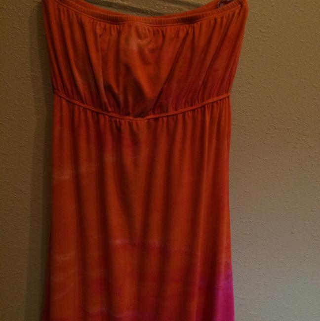 Orange and pink tie dye Maxi Dress by Hard Tail