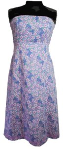 Lilly Pulitzer short dress Purple Strapless Tie Back on Tradesy