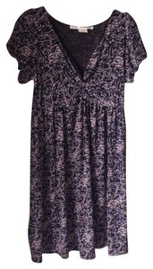 Max Studio Patterned V-neck Formal Dress