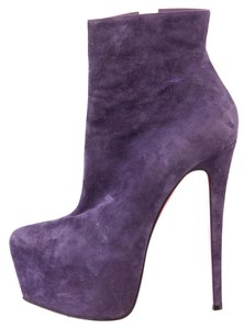 Christian Louboutin Suede Leather Daffodile Ankle Purple Boots