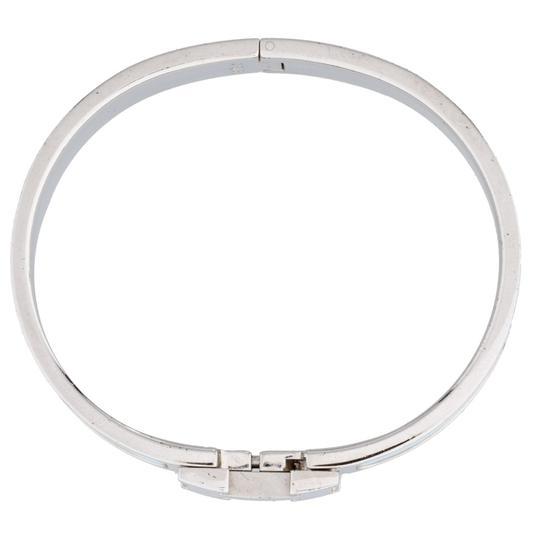 Hermès Palladium light blue enamel Herms Narrow Clic Clac H Bracelet