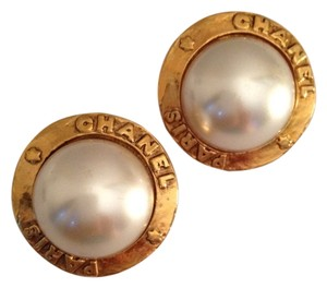 Chanel Pearls 18karat Gold Plated Clip On