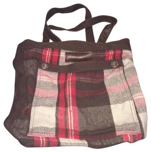 Abercrombie & Fitch Tweed Winter Fall Tote in Plaid