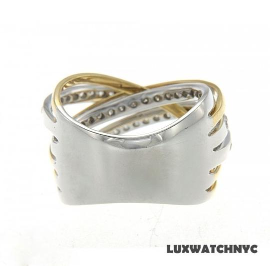 Other BRAND NEW, Ladies 18K White Gold Two Tone Ring with White Diamonds