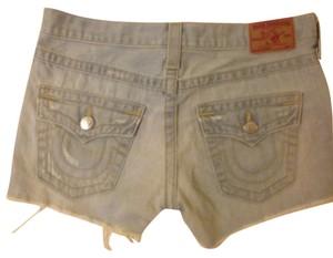 True Religion Cut Off Shorts Blue, light wash