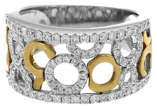 Other BRAND NEW 18K White and Yellow Gold Right Hand Ring with White Diamonds