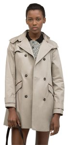 Zara Trench Rain Hooded Fall Trench Coat