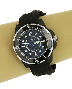 Chanel Chanel J12 Marine Stainless Steel Rubber Trendy Quartz Wrist Watch