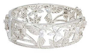 Kenneth Jay Lane CZ by Kenneth Jay Lane Pav Cubic Zirconia Hummingbird Bangle Bracelet