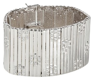Kenneth Jay Lane CZ by Kenneth Jay Lane Floral Stations Extra Wide Bracelet