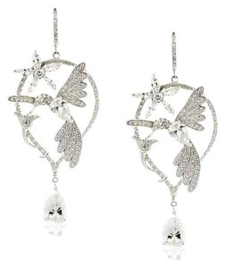 Kenneth Jay Lane CZ by Kenneth Jay Lane Delicate Cubic Zirconia Hummingbird Earrings