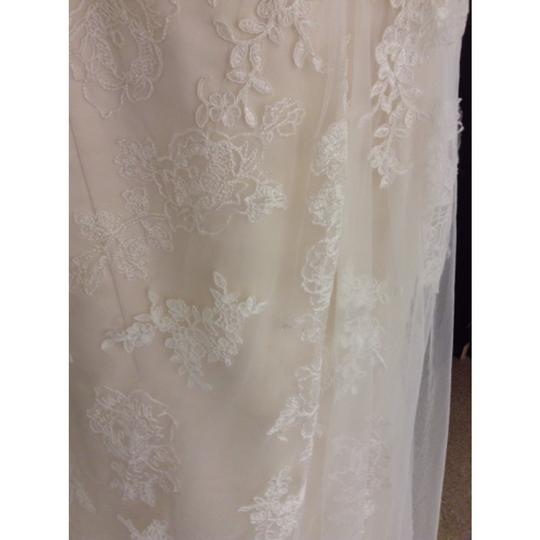 Maggie Sottero Ivory/Light Gold Lace Joelle Marie Formal Wedding Dress Size 6 (S)